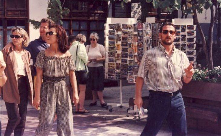 Feijóo con su mujer y Dorado en un viaje a Canarias durante la década de los noventa