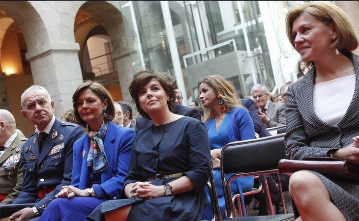 Cospedal y Soraya mostraron sus diferencias durante el 2 de mayo