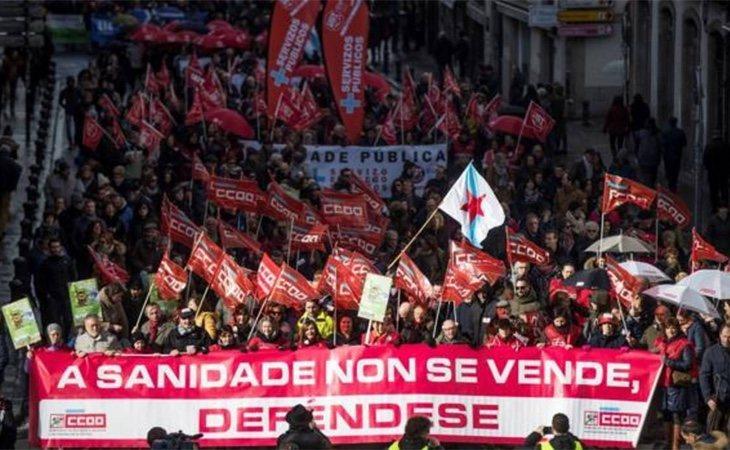 Durante estos años ha habido numerosas manifestaciones por la sanidad pública gallega