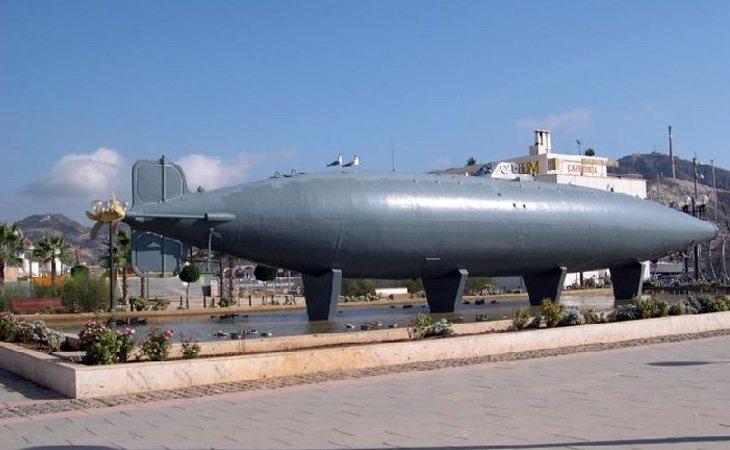 El submarino de Isaac Peral puede visitarse en Cartagena