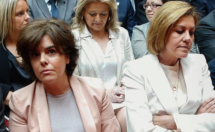 Soraya Sáenz de Santamaría y María Dolores de Cospedal aspiran a liderar el PP
