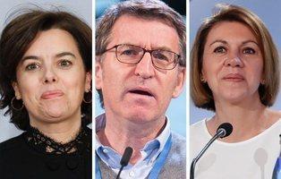 Sáenz de Santamaría a Bruselas y Cospedal a Madrid: la estrategia del PP para asegurar a Feijóo