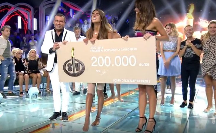 Sofía se corona como ganadora de 'Supervivientes'