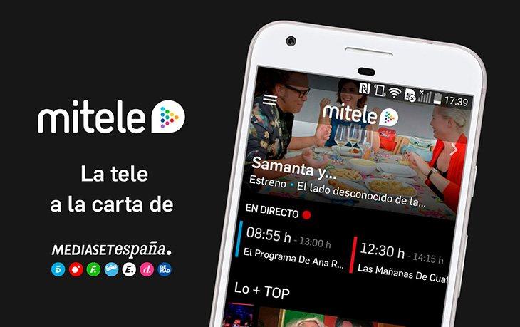 La app permite ver los partidos en directo