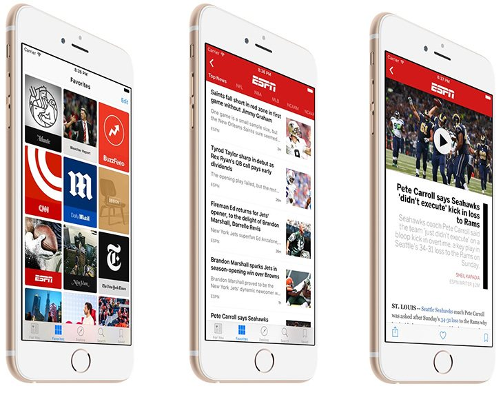 Con un estilo mas sobrio esta app ofrece una información mas rigurosa