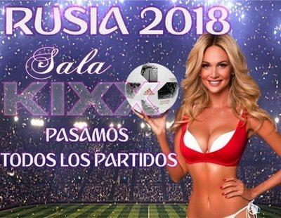 Striptease, jamón ibérico y el Mundial gratis: el reclamo de un prostíbulo en Madrid
