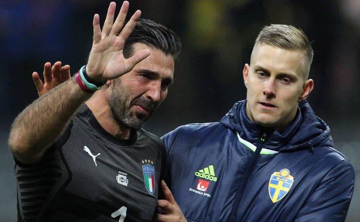 Buffon tras la eliminación de Italia en la fase previa al Mundial de Rusia