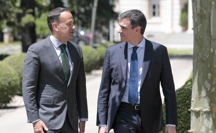 Sánchez pudo mostrar su nivel de inglés en su última reunión con el primer ministro irlandés