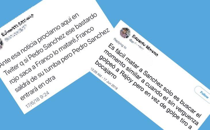 Algunos de los mensajes denunciados en las redes sociales