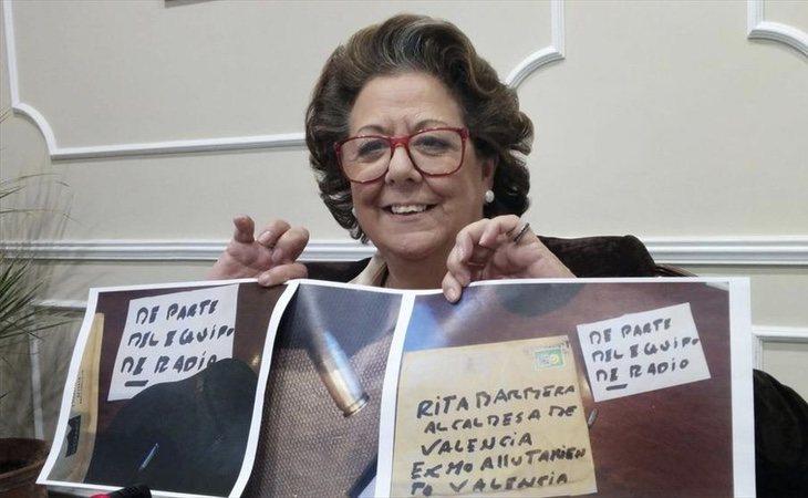 Rita Barberá llegó a recibir sobres con balas en su propio domicilio