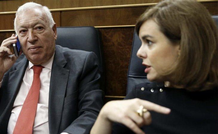 Margallo ha cargado duramente contra Soraya en repetidas ocasiones