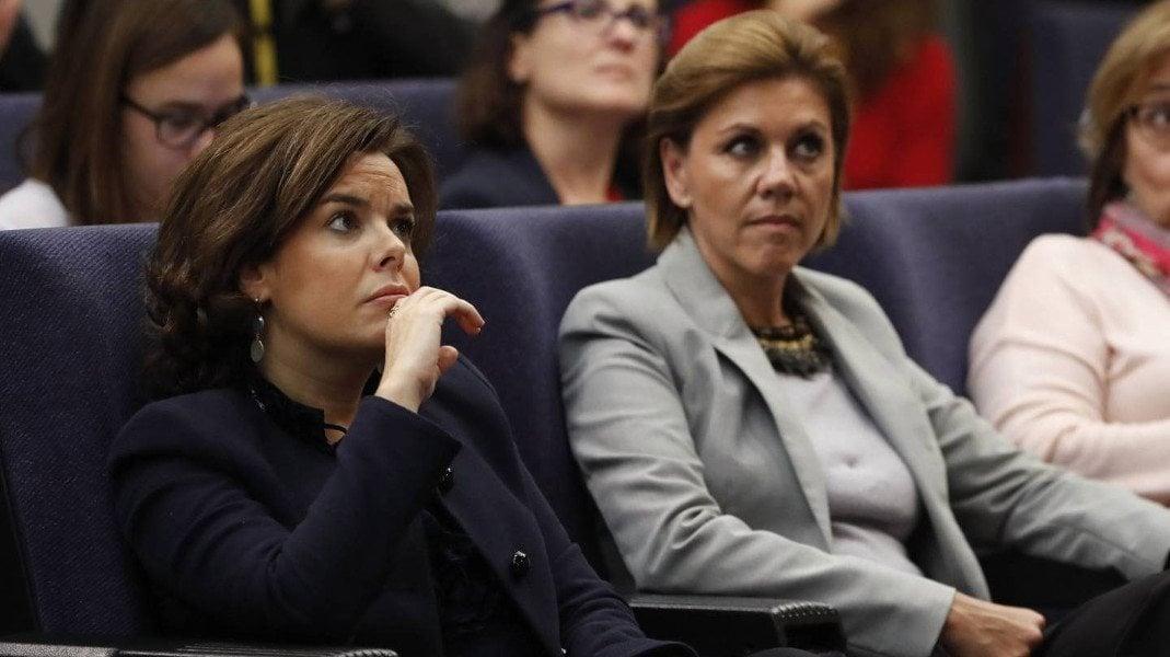 La enemistad entre Santamaría y Cospedal nunca se ha mostrado en público