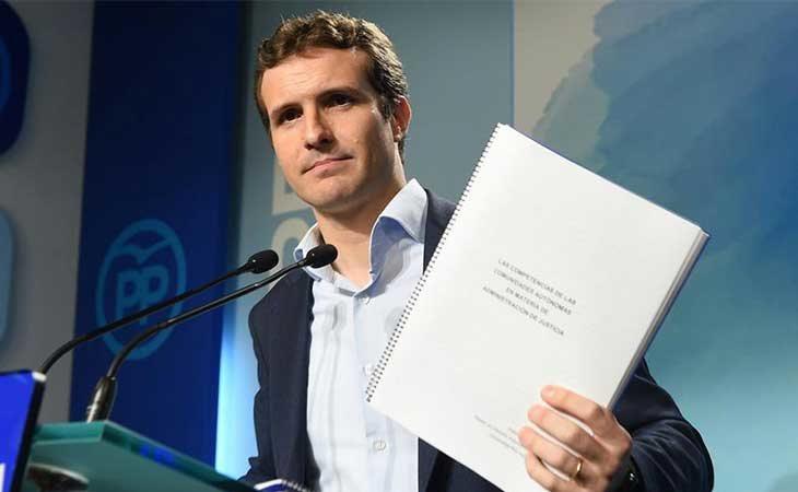 Pablo Casado se presenta a las primarias para gobernar el PP
