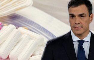 Pedro Sánchez quiere bajar el IVA a compresas, tampones y pañales