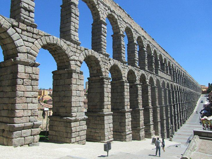 El acueducto de Segovia está declarado como Patrimonio de la Humanidad