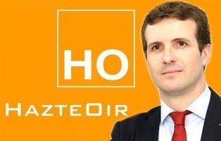 Hazte Oír se declara fan de Pablo Casado y le hace campaña en las primarias del PP