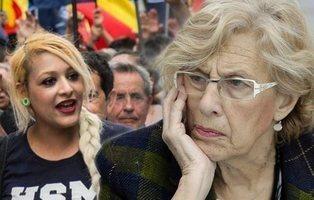 Carmena ofrece un albergue a las personas sin hogar que acampan con los neonazis de Hogar Social Madrid