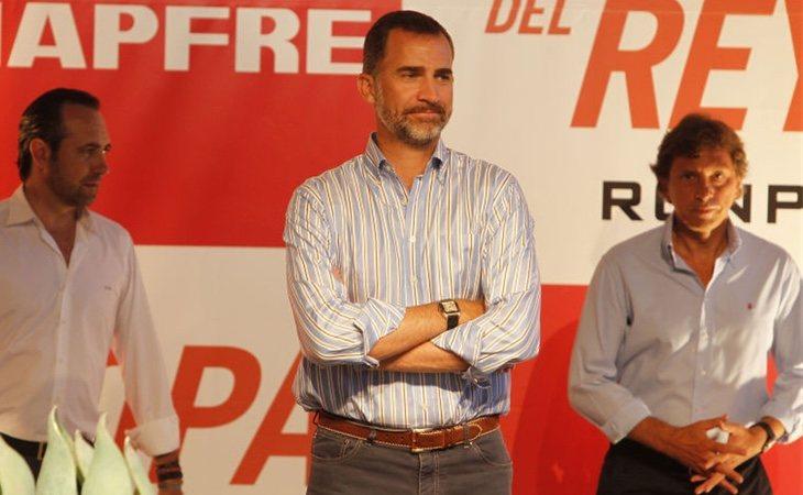 Felipe acudió solo a la entrega de los premios de la Copa del Rey en el verano de 2013