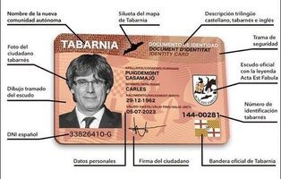 Tabarnia crea su propio documento de identidad que se puede adquirir por 25 euros