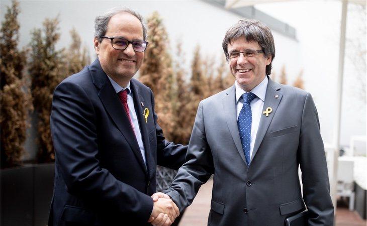 Torra fue nombrado president con el beneplácito de Puigdemont, pero se ha mantenido más cauto que este