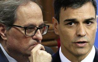 Pedro Sánchez y Quim Torra se reúnen en la Moncloa para normalizar las relaciones