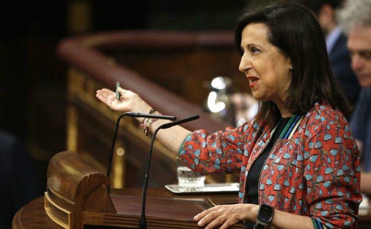 Margarita Robles en una comparecencia en el Congreso de los Diputados