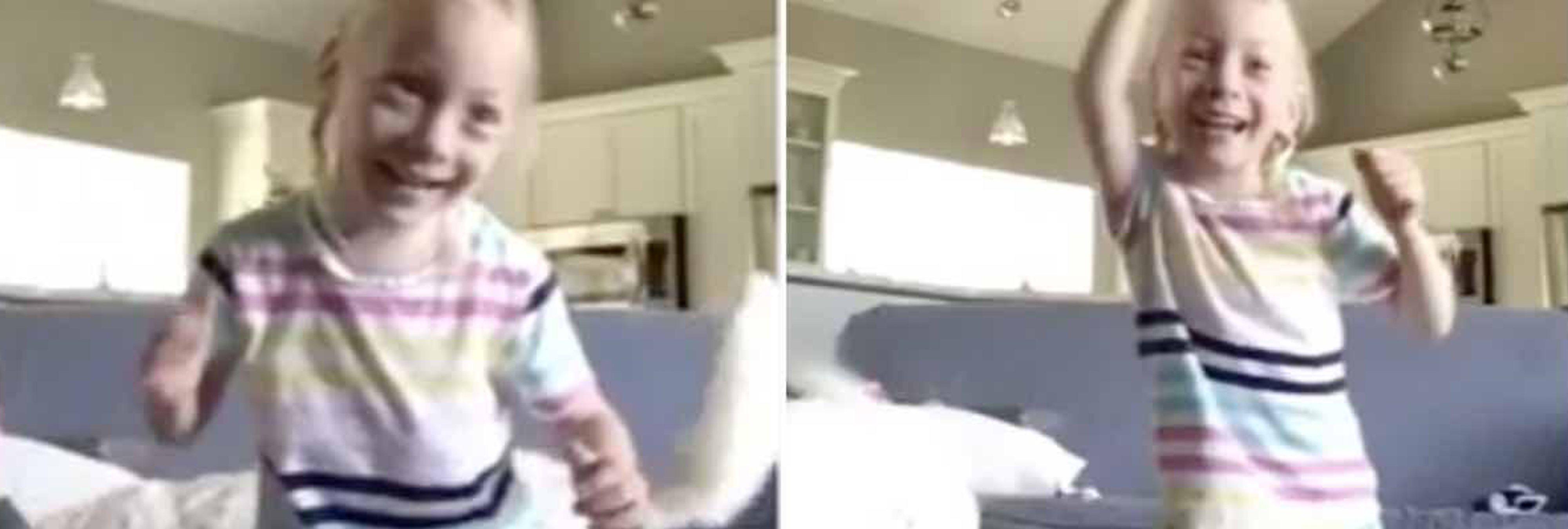 La emocionante reacción de una niña con parálisis cerebral que camina por primera vez