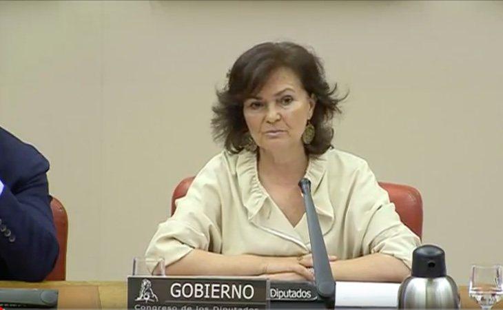Carmen Calvo en la Comisión de Igualdad
