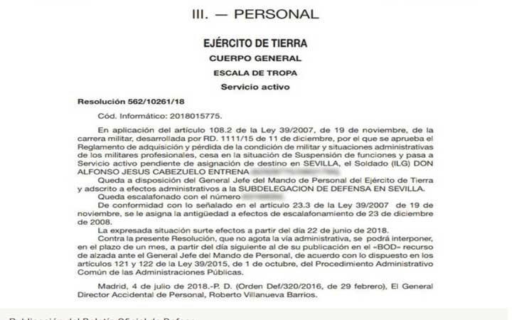 Boletin Oficial de Defensa