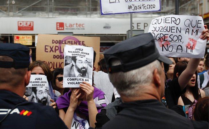 Protesta por la sentencia de 'La Manada' en Madrid, miércoles 2 de mayo
