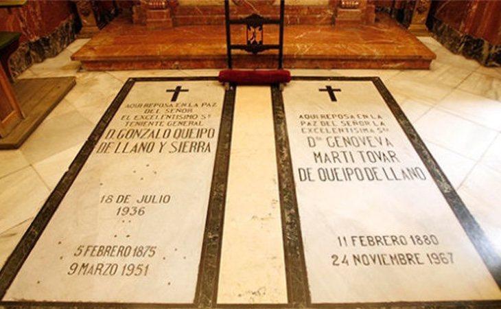 Queipo de Llano mantiene un sitio privilegiado en la basílica de la Macarena, en Sevilla