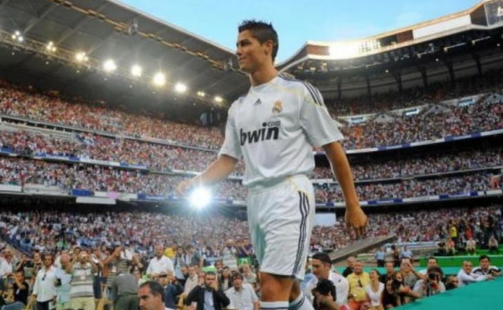 Cristiano el día de su presentación con el Madrid