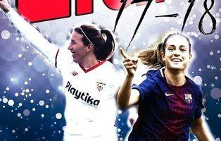 El casero álbum de cromos de la Liga de fútbol femenino: pegatinas visibles