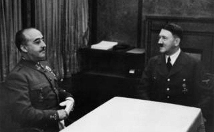 Franco y Hitler durante su encuentro en la Hendaya
