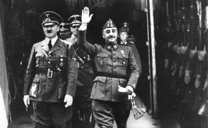 Hitler y Franco justo antes su reunión en 1940
