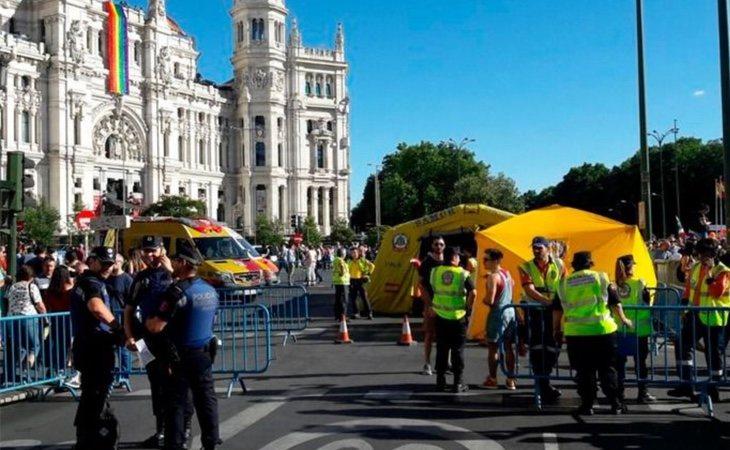 Agentes de la Policía Municipal durante el Orgullo 2018 (Policía Municipal de Madrid)