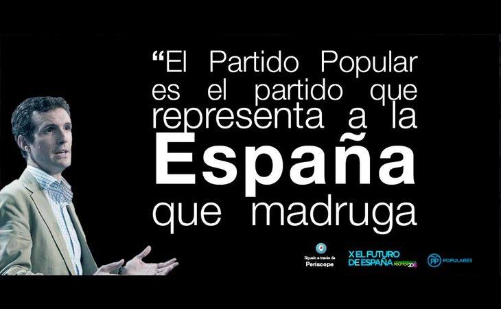Pablo Casado ha empleado el mismo lema en repetidas ocasiones