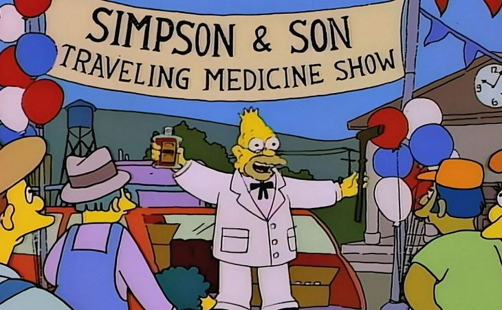 Abe Simpson es el famoso abuelo de 'Los Simpson'