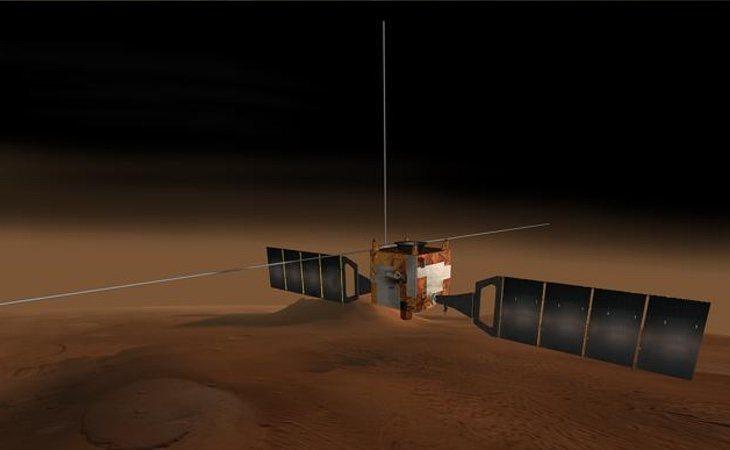 Imagen virtual de la sonda que ha localizado el lago