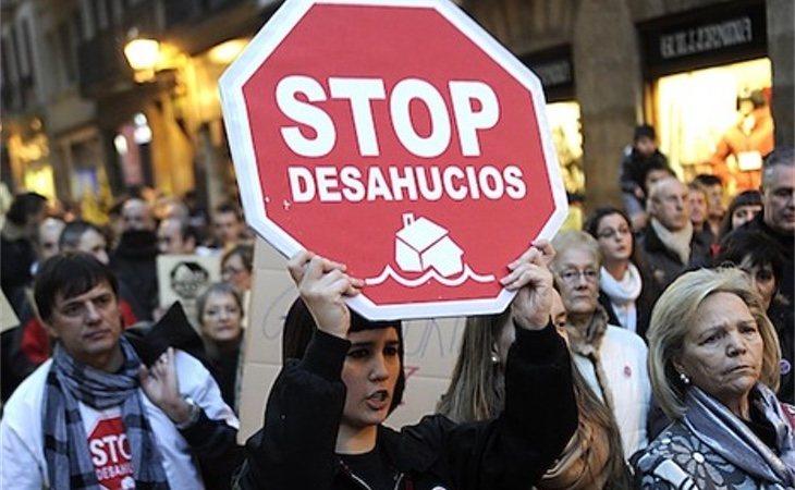 Manifestación el Bilbao contra los desahucios. /Foto: Marisol Ramírez
