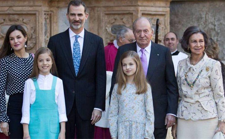 La Familia Real en una de sus últimas apariciones al completo