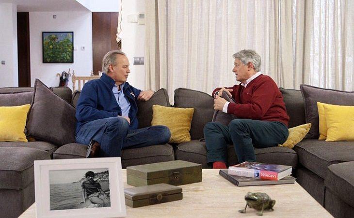 Bertín Osborne entrevistando a Josema Yuste en 'Tu casa es la mía'