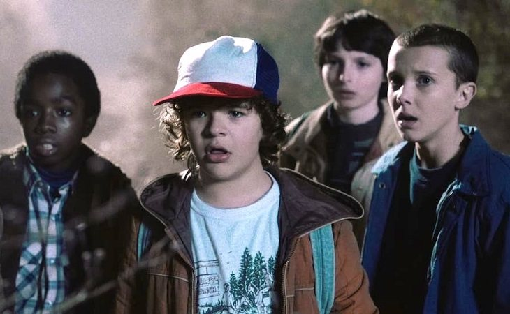 Eleven junto a Mike, Dustin y Lucas en 'Stranger Things'