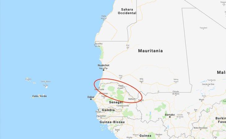 El detenido ha sido localizado en algún punto de la frontera entre Senegal y Mauritania
