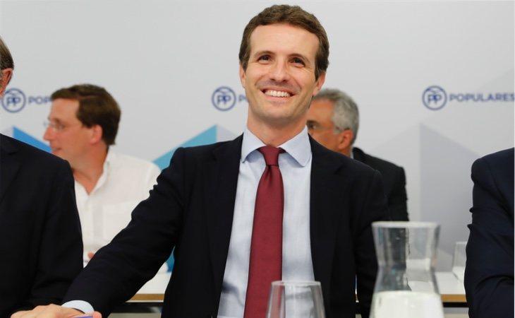 Pablo Casado en una reunión del Comité Ejecutivo del PP