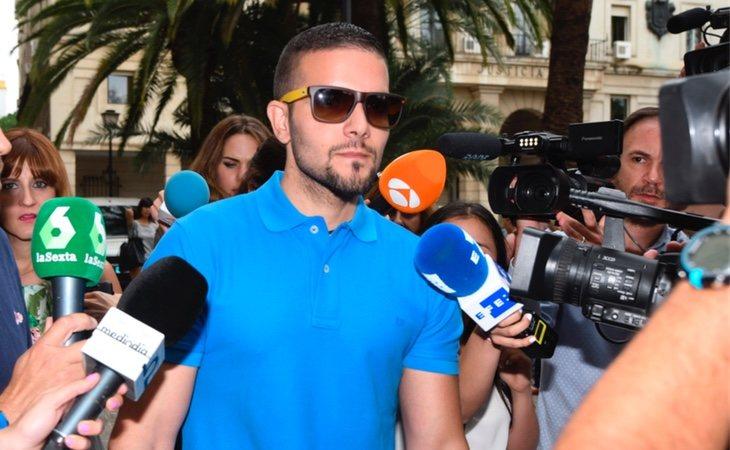 Ángel Boza llegando a su comparecencia a los juzgados de Sevilla