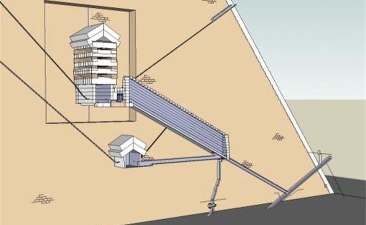Modelo 3D de la pirámide (Cheops.SU)