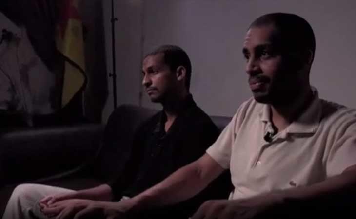 Kotey y Elsheikh en el momento del cara a cara