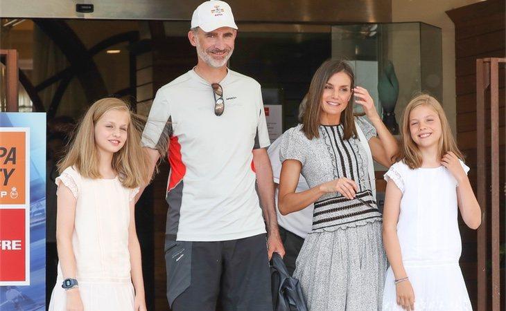 La Familia Real en la celebración de la Copa del Rey de Vela