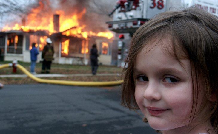 La niña pirómana, uno de los memes más virales